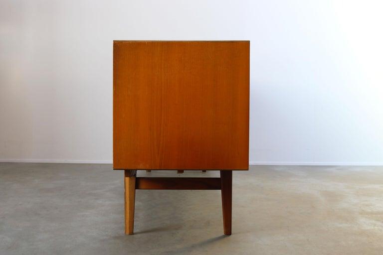 Minimalist Sideboard / Credenza by Oswald Vermaercke for V-Form 1950s in Teak For Sale 7