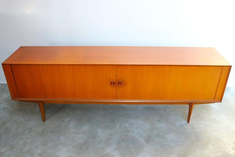 Minimalist Sideboard / Credenza by Oswald Vermaercke for V-Form 1950s in Teak For Sale 8
