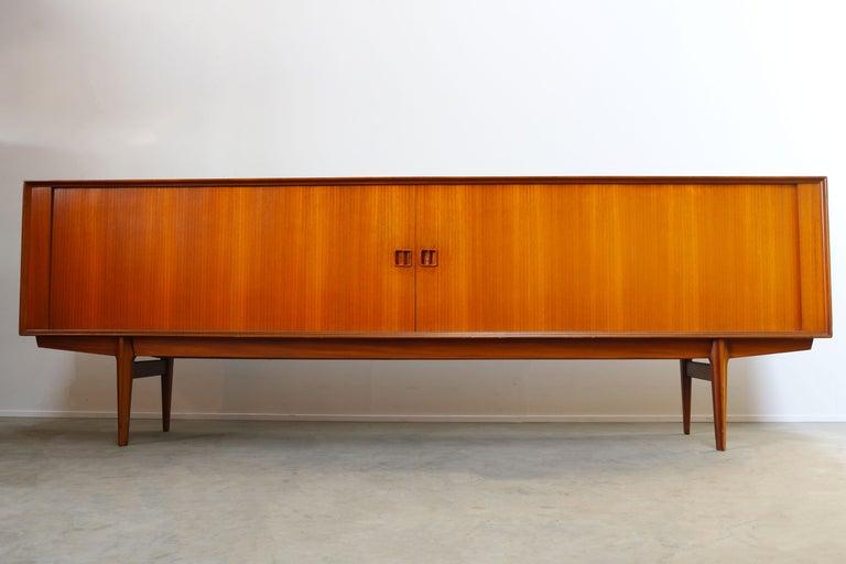 Minimalist Sideboard / Credenza by Oswald Vermaercke for V-Form 1950s in Teak For Sale 9
