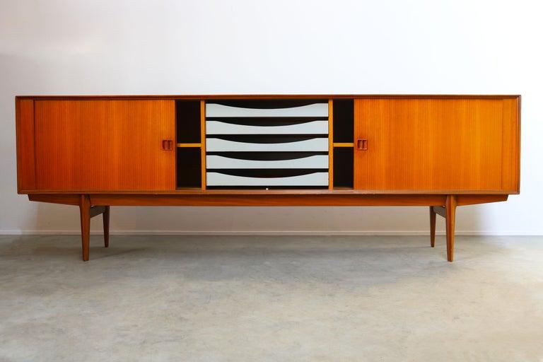 Minimalist Sideboard / Credenza by Oswald Vermaercke for V-Form 1950s in Teak For Sale 1