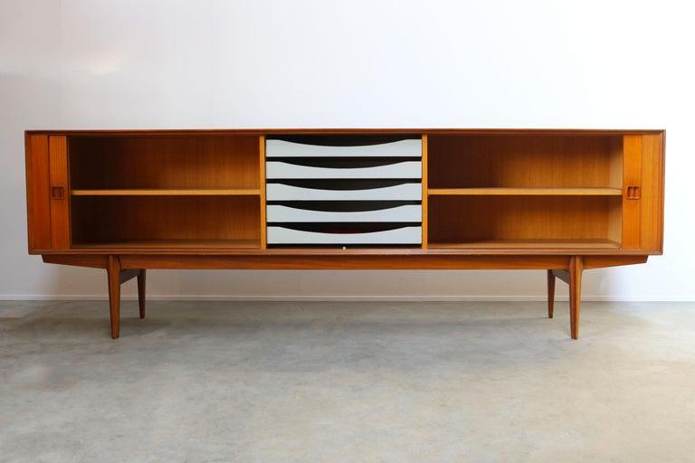 Minimalist Sideboard / Credenza by Oswald Vermaercke for V-Form 1950s in Teak For Sale 2