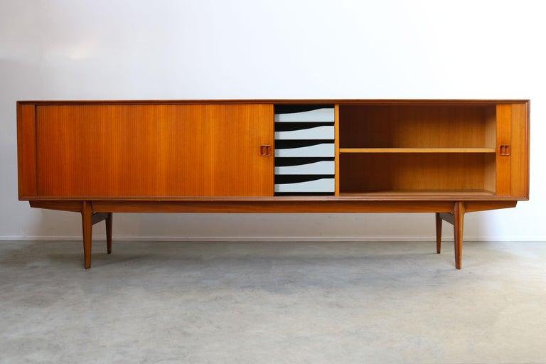 Minimalist Sideboard / Credenza by Oswald Vermaercke for V-Form 1950s in Teak For Sale 3