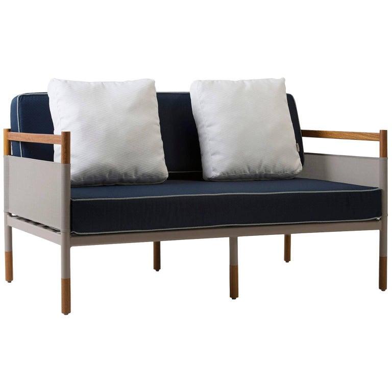 Minimalist Sofa for Outdoor, Contemporary Brazilian Design For Sale