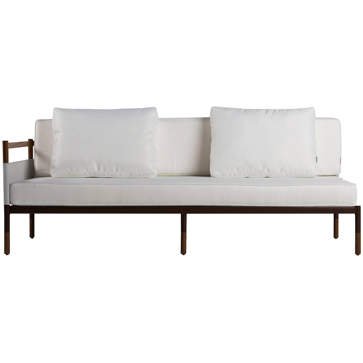 Superieur Minimalist Sofa In Hardwood, Metal And Fabric, Usable Outdoors