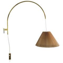 Minimalist Stilnovo Style Adjustable Counter Weight Brass Wall Light Italy 1960s