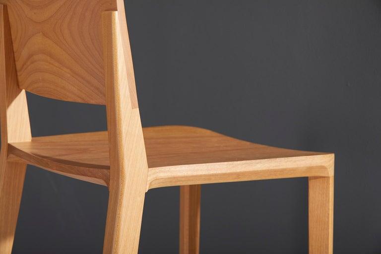 Minimalist Style, Stool in Black Ebonized Solid Wood For Sale 4