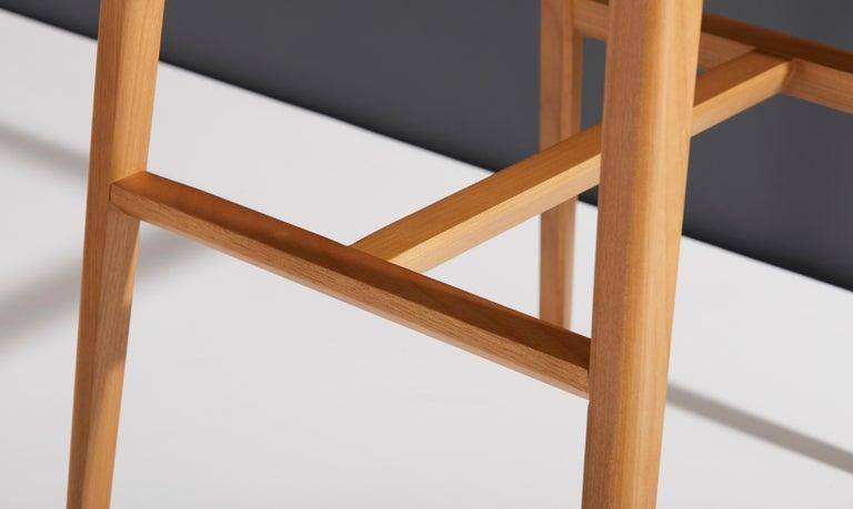 Minimalist Style, Stool in Black Ebonized Solid Wood For Sale 9