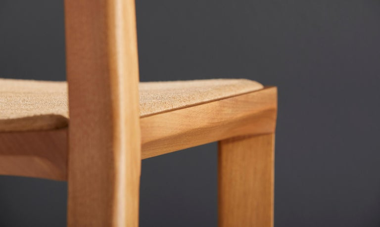 Minimalist Style, Stool in Black Ebonized Solid Wood For Sale 10