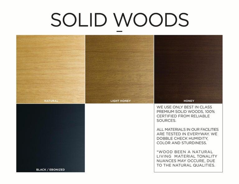 Minimalist Style, Stool in Black Ebonized Solid Wood For Sale 13