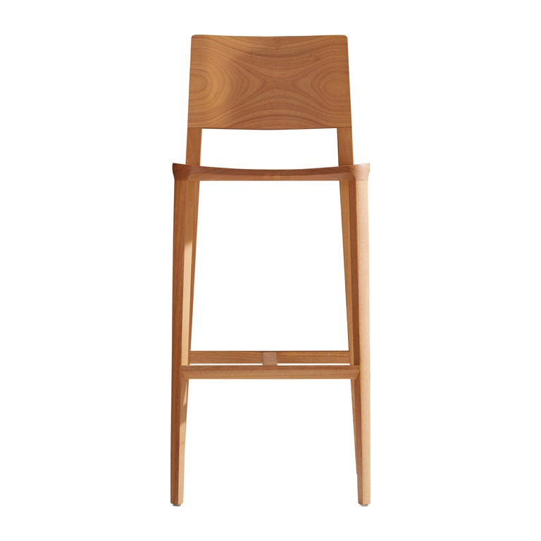 Minimalist Style, Stool in Natural Solid Wood For Sale