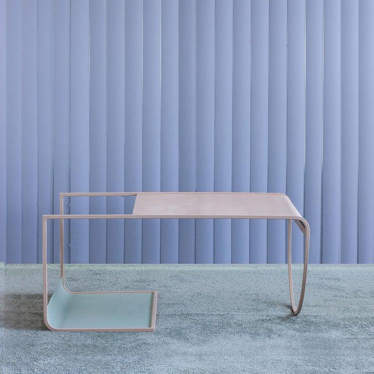 Modern Minimalist SW Coffee Table in Powder-Coated Steel by Soft-Geometry For Sale