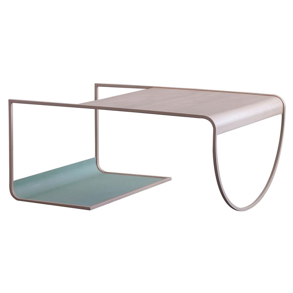 Minimalist SW Coffee Table in Powder-Coated Steel by Soft-Geometry