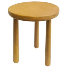 Minimalist Three-Leg Stool in Waxed Natural Pine by Martin & Brockett, Honey