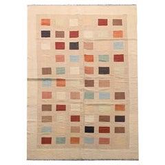 Minimalist Vintage Afghan Kilim Rug