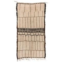Minimalist Vintage Moroccan Carpet