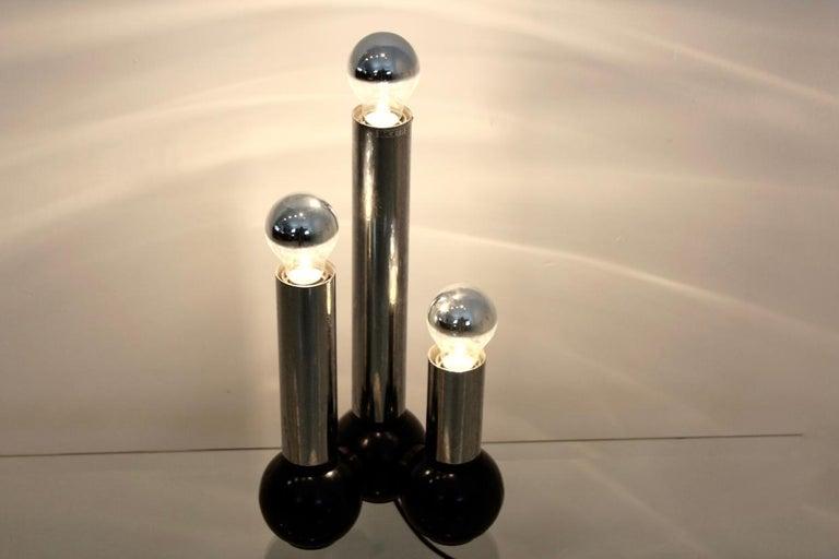 Mid-Century Modern Minimalistic Chrome Targetti Sankey Table Light, Italy, 1970s For Sale