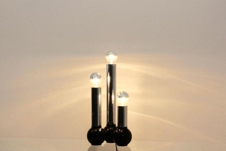 Minimalistic Chrome Targetti Sankey Table Light, Italy, 1970s For Sale 2