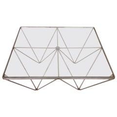 "Minimalistic Paolo Piva ""Alanda"" Style Coffee Table"