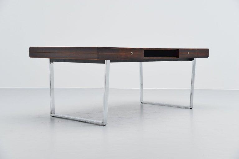 Scandinavian Modern Minimalistic Rosewood Desk Made in Denmark, 1960 For Sale