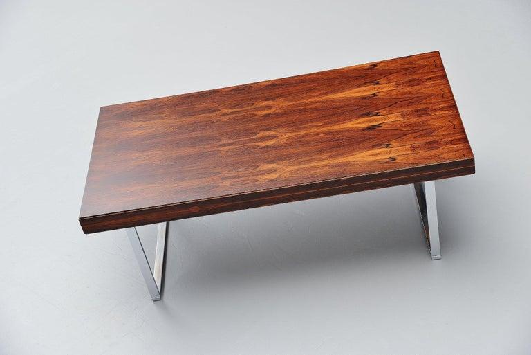 Danish Minimalistic Rosewood Desk Made in Denmark, 1960 For Sale