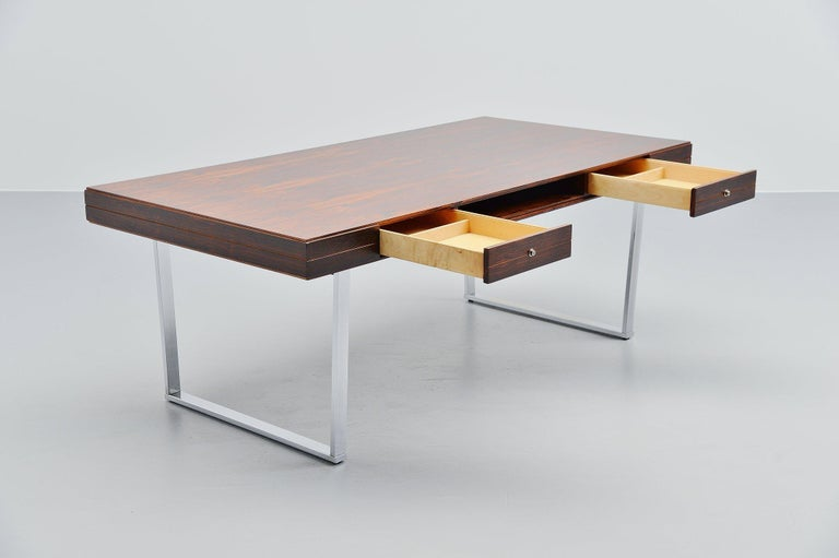 Plated Minimalistic Rosewood Desk Made in Denmark, 1960 For Sale