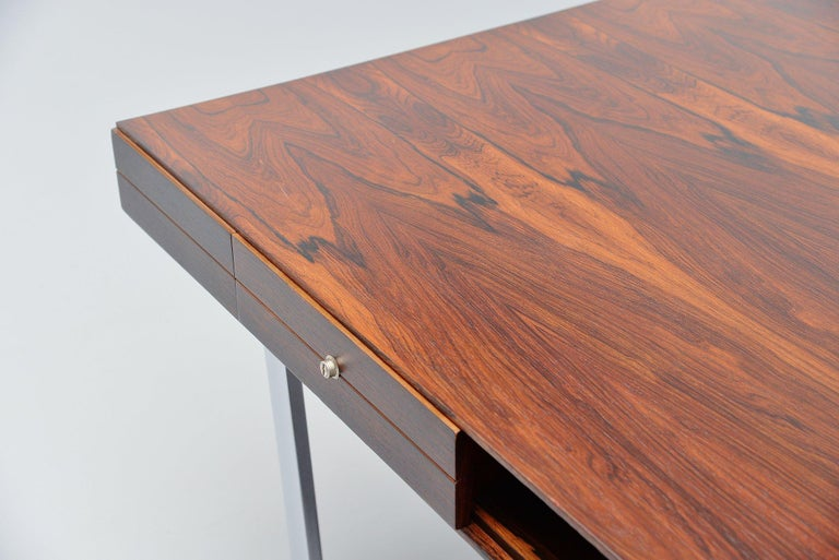 Mid-20th Century Minimalistic Rosewood Desk Made in Denmark, 1960 For Sale