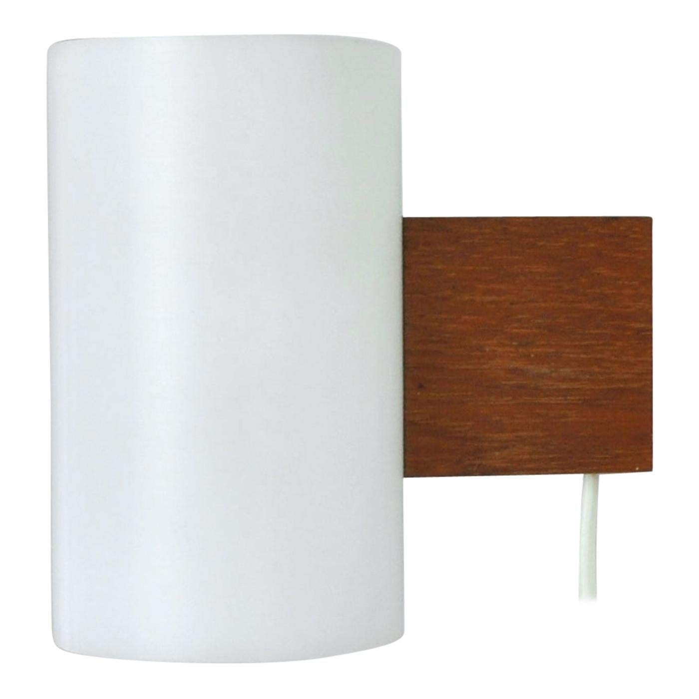 Minimalistic Swedish Wall Lamp Designed by Uno & Östen Kristiansson, 1960s