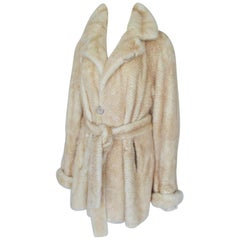 Mink Fur Lightweight Jacket with Belt