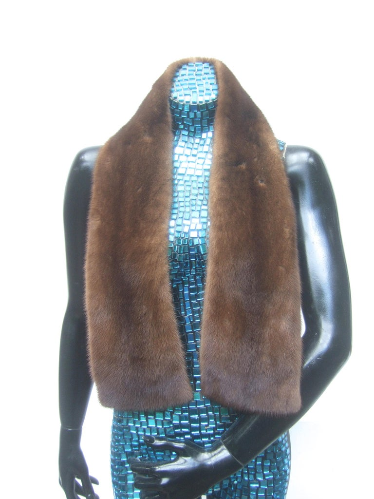 Mink Fur Plush Collar Designed by Pologeorgis from Neiman Marcus c 1990s For Sale 5