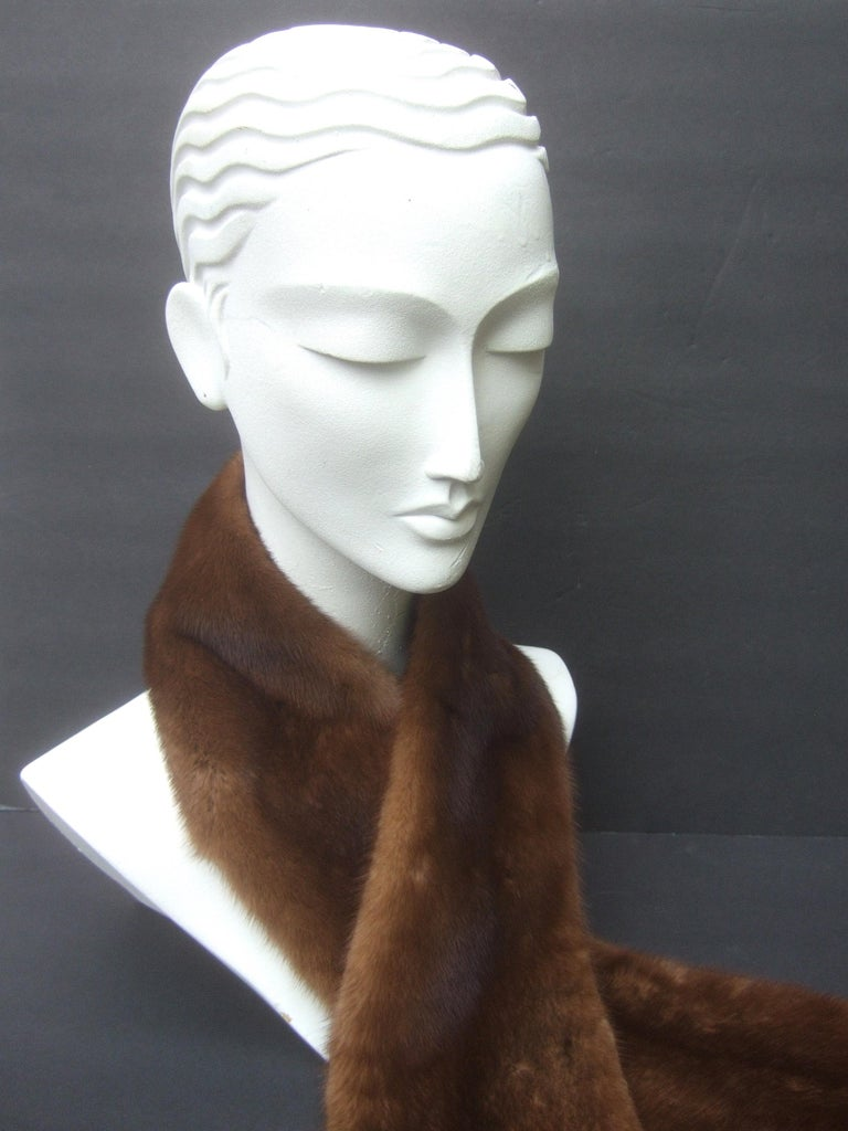 Mink Fur Plush Collar Designed by Pologeorgis from Neiman Marcus c 1990s For Sale 6