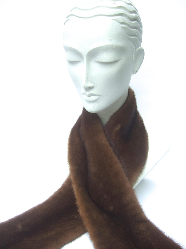 Mink Fur Plush Collar Designed by Pologeorgis from Neiman Marcus c 1990s For Sale 2