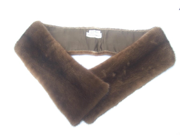 Mink Fur Plush Collar Designed by Pologeorgis from Neiman Marcus c 1990s For Sale 3