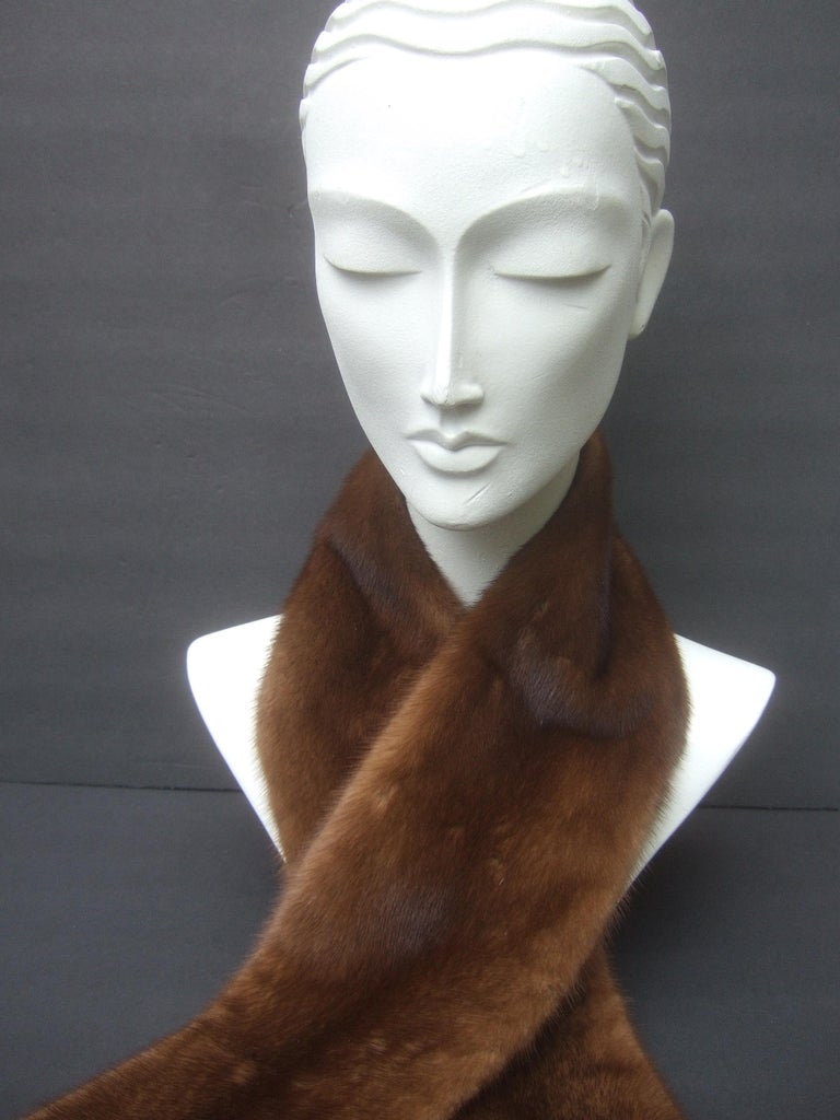 Mink Fur Plush Collar Designed by Pologeorgis from Neiman Marcus c 1990s For Sale 4