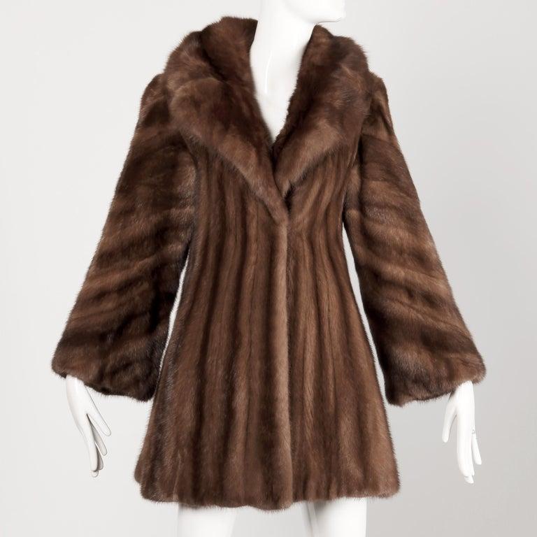 Mink + Sable Fur Coat For Sale 7