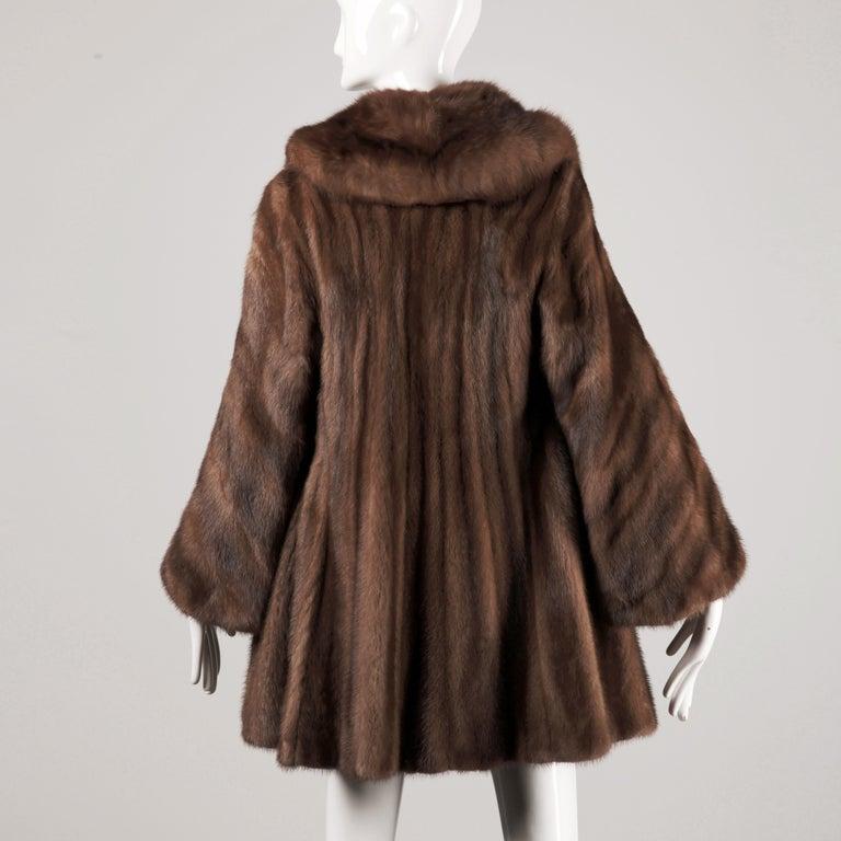 Mink + Sable Fur Coat In Excellent Condition For Sale In Sparks, NV