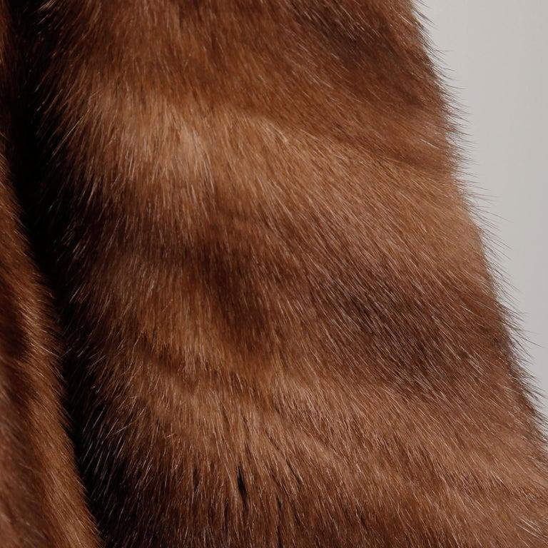 Women's Mink + Sable Fur Coat For Sale