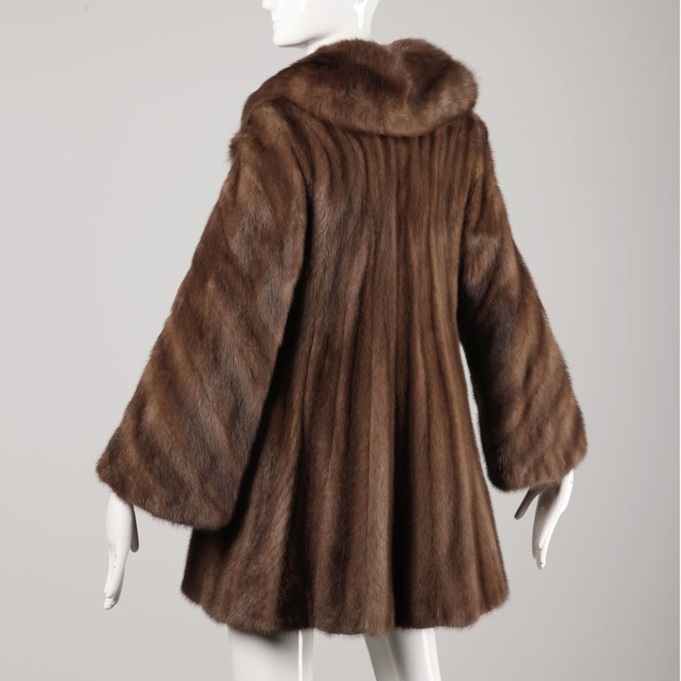 Mink + Sable Fur Coat For Sale 1