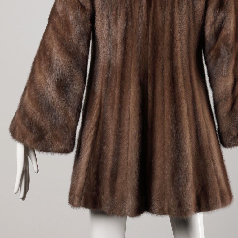 Mink + Sable Fur Coat For Sale 3