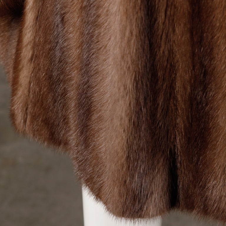Mink + Sable Fur Coat For Sale 4