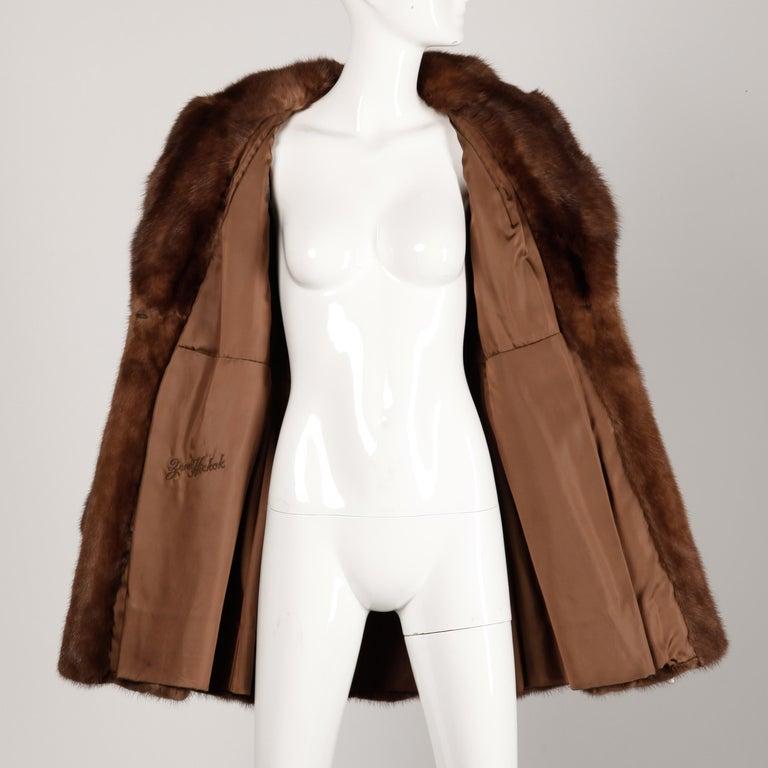 Mink + Sable Fur Coat For Sale 5