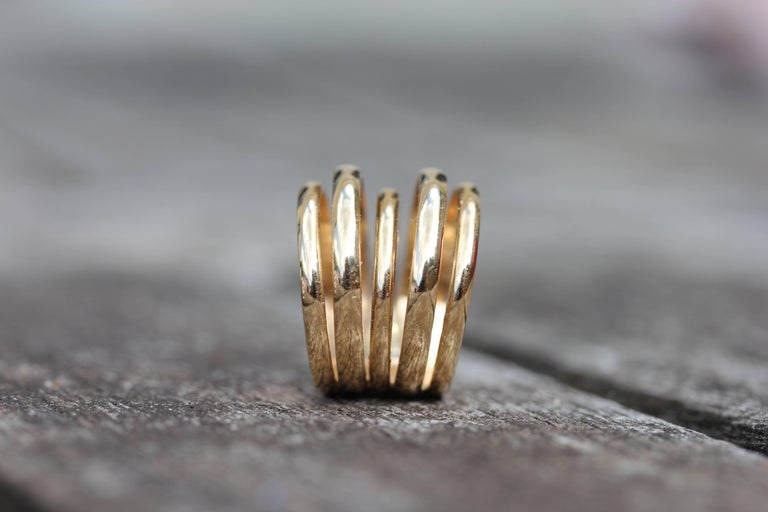 Minka Gems Berlin Yellow Gold Stack Bands Rings In New Condition For Sale In London, GB