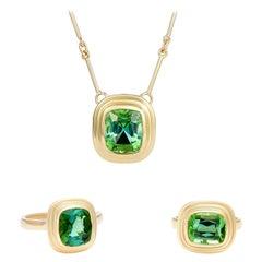 Minka, Green Tourmaline Set