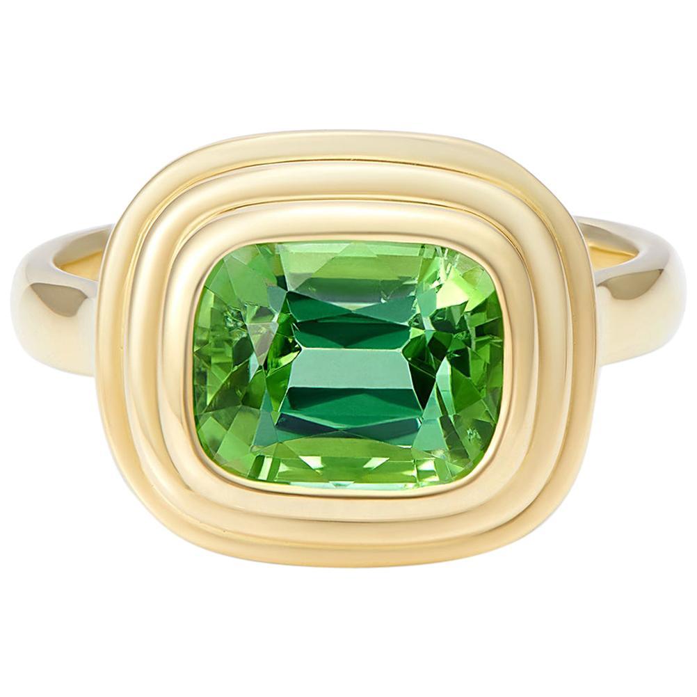 Minka Jewels, 18 Karat Yellow Gold 2.50 Carat Green Tourmaline Ring