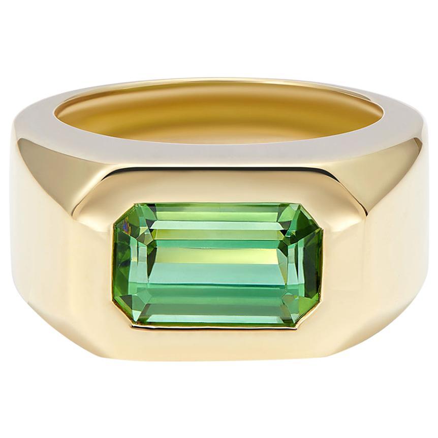 Minka Jewels, 18 Karat Yellow Gold, Green Tourmaline Ring
