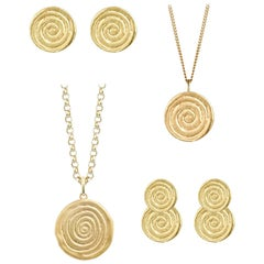 Minka Jewels Suite, Infinity Spiral Collection 4-Piece Jewelry Suite