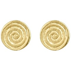 Minka Jewels Yellow Gold Spiral Stud Earrings