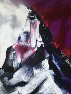 Matterhorn - contemporary modern mixed media landscape mountain art