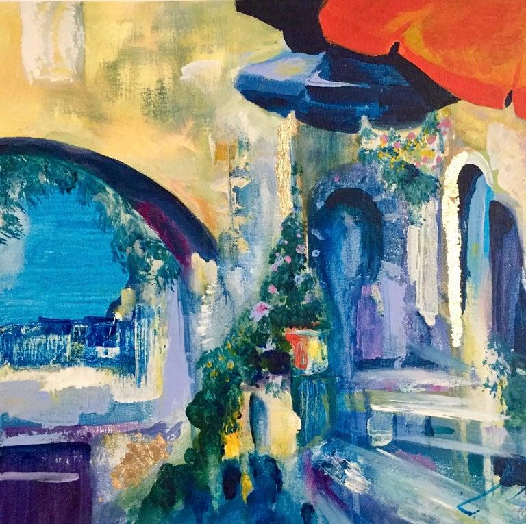 Minna george lux original abstract landscape painting for Original abstract paintings for sale