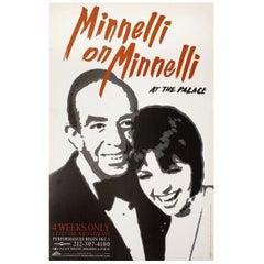 """""""Minnelli on Minnelli"""" 1999 U.S. Window Card Theatre Poster"""