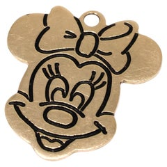 Minnie Mouse Charm in 14 Karat Yellow Gold
